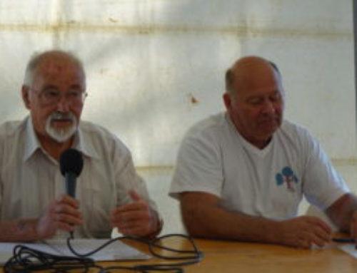 Hommage à Albert Badier à gauche sur notre photo
